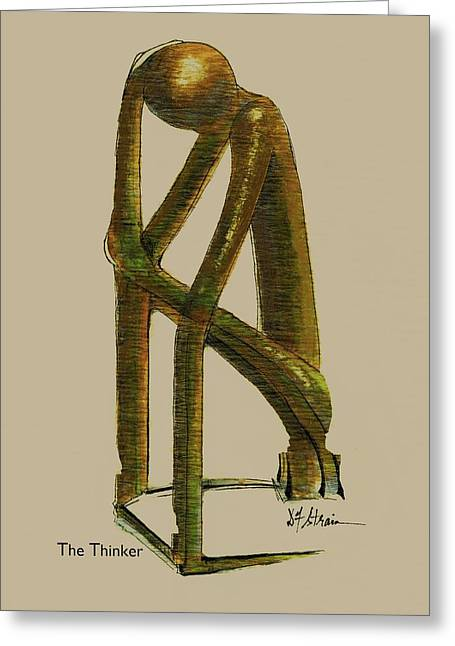 Fineartamerica Greeting Cards - The Thinker   Number 7 Greeting Card by Diane Strain