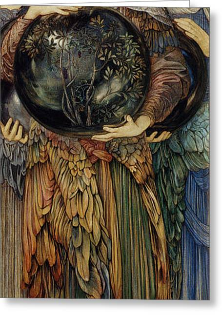 Second Lady Greeting Cards - The Third Day Greeting Card by Edward Burne Jones