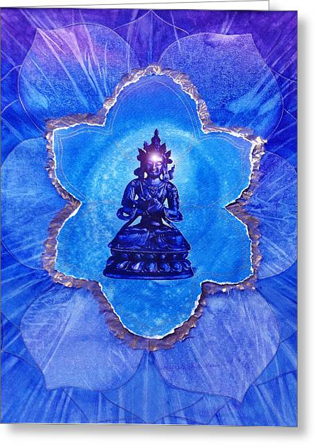 Brow Chakra Greeting Cards - The Third Eye Greeting Card by Joan Doyle