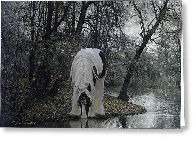 Gypsy Greeting Cards - The Thirst Greeting Card by Terry Kirkland Cook