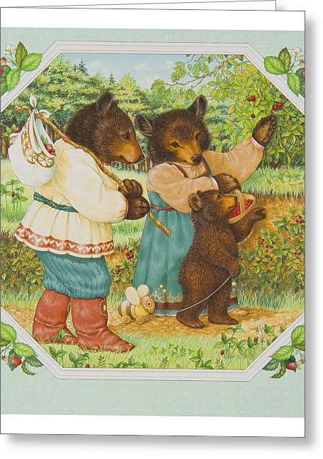 Picking Greeting Cards - The Three Bears Greeting Card by Lynn Bywaters