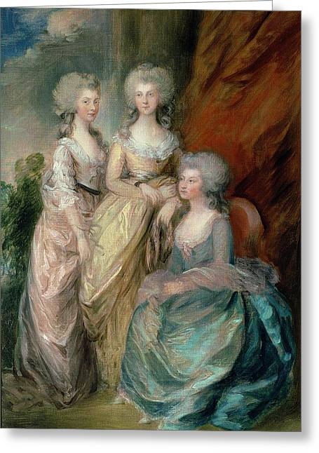18th Century Greeting Cards - The Three Eldest Daughters Of George Greeting Card by Thomas Gainsborough