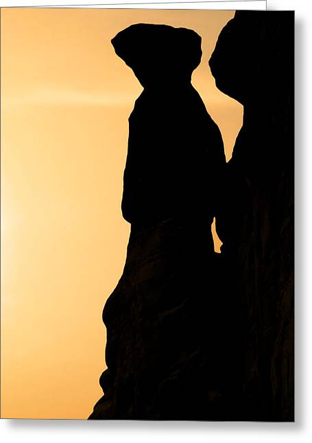 The Three Gossips - Arches National Park Greeting Card by Christine Till