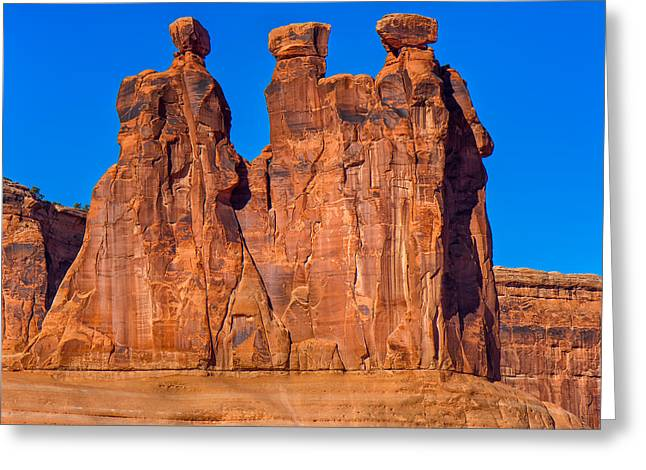 The Plateaus Greeting Cards - The Three Gossips Greeting Card by John Bailey