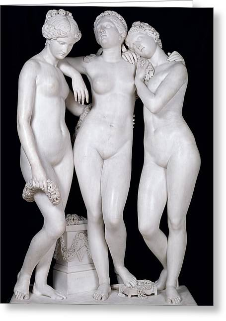 Embrace Greeting Cards - The Three Graces, 1831 Marble See For Details 164658, 164659 Greeting Card by James Pradier