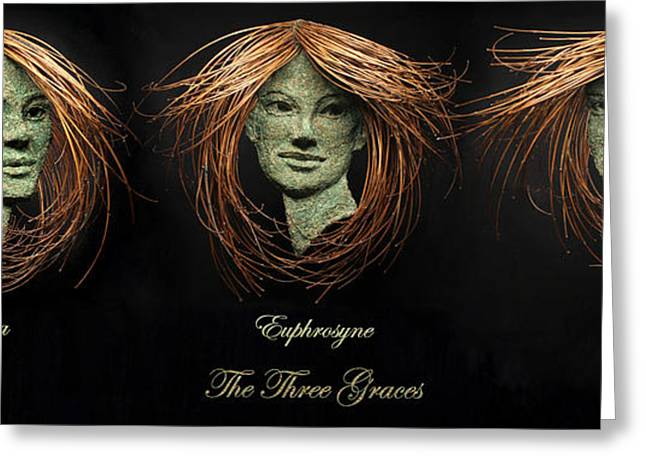 Face Reliefs Greeting Cards - The Three Graces Greeting Card by Adam Long