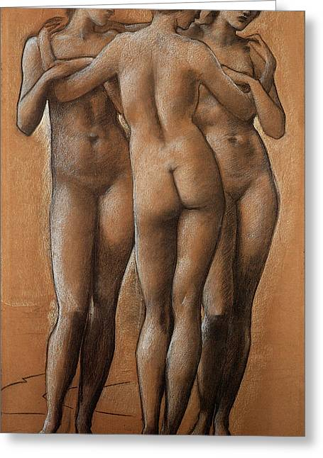 Fugitive Greeting Cards - The Three Graces Greeting Card by Edward Burne Jones