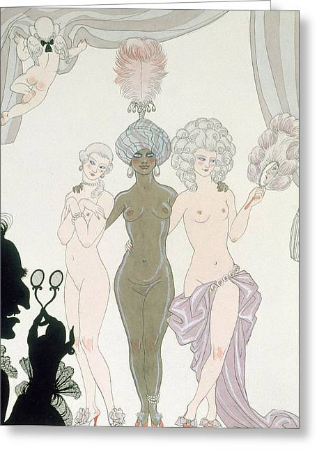 Ponce Greeting Cards - The Three Graces Greeting Card by Georges Barbier