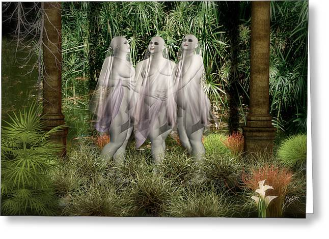 Infographic Greeting Cards - The three graces Greeting Card by Joaquin Abella