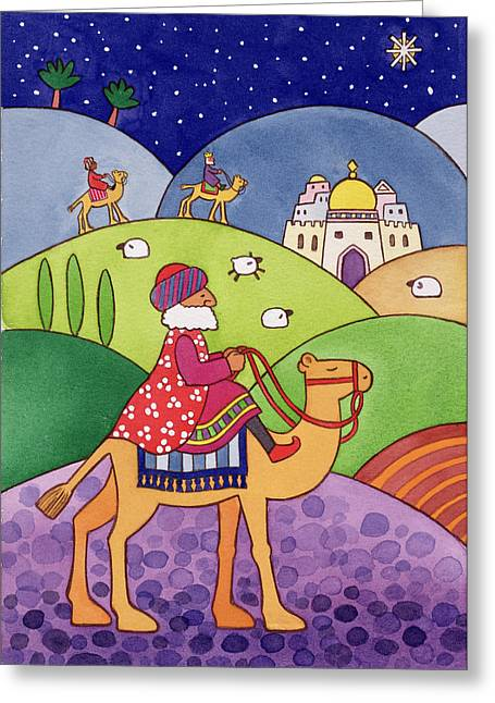 Artist Collection Greeting Cards - The Three Kings Greeting Card by Cathy Baxter