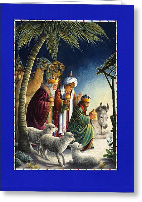 The Three Kings Greeting Card by Lynn Bywaters