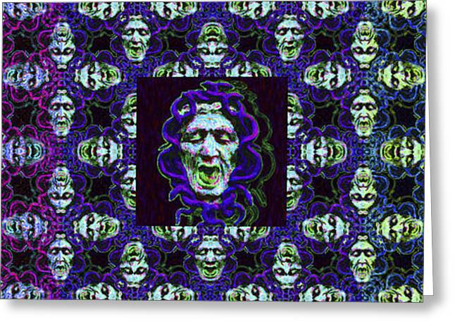 Medusa Digital Greeting Cards - The Three Medusas 20130131 - horizontal Greeting Card by Wingsdomain Art and Photography