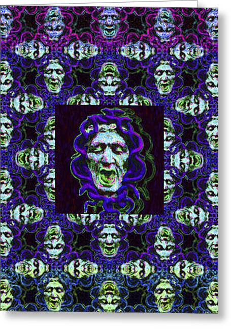 Medusa Digital Greeting Cards - The Three Medusas 20130131 - vertical Greeting Card by Wingsdomain Art and Photography