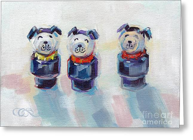 Fisher Greeting Cards - The Three Musketeers Greeting Card by Kimberly Santini