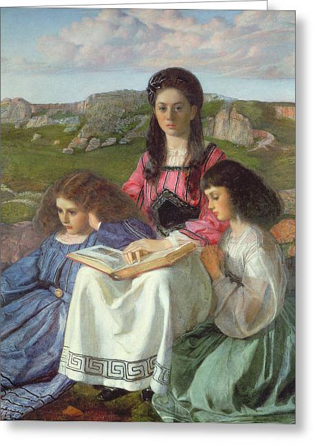 The Three Sisters Of Dean Liddell Greeting Card by Sir William Blake Richomond
