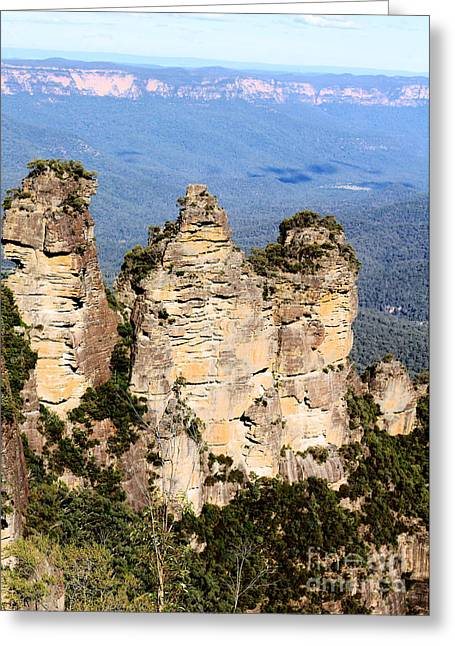 Sister Framed Prints Greeting Cards - The Three Sisters Greeting Card by Susan Moss
