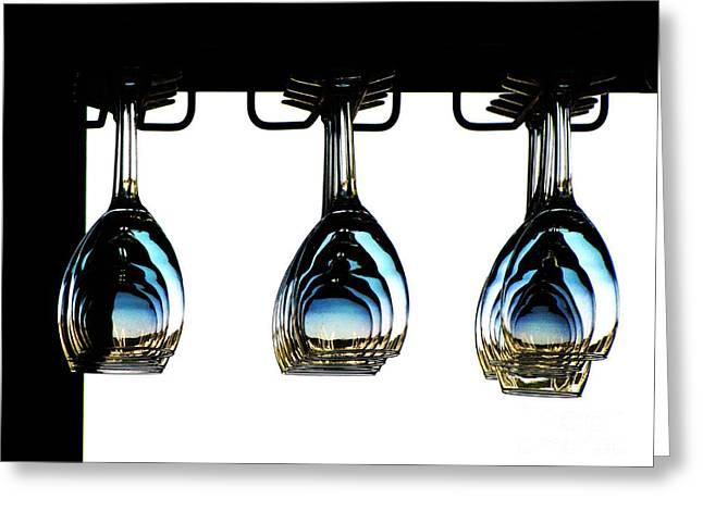 Hanging Wine Glasses Greeting Cards - The Three Stigmata of John Wineke Greeting Card by Ron  Tackett