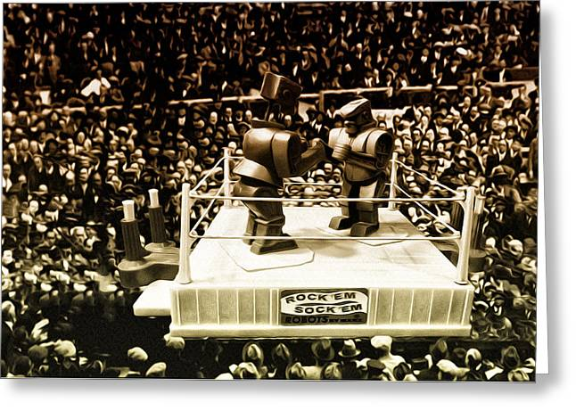 Boxer Digital Greeting Cards - The Thrilla in Toyvilla Greeting Card by Bill Cannon