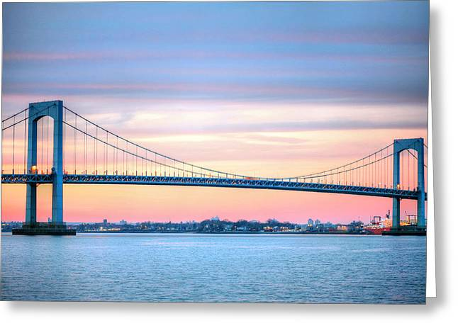 The Bronx Greeting Cards - The Throgs Neck Greeting Card by JC Findley