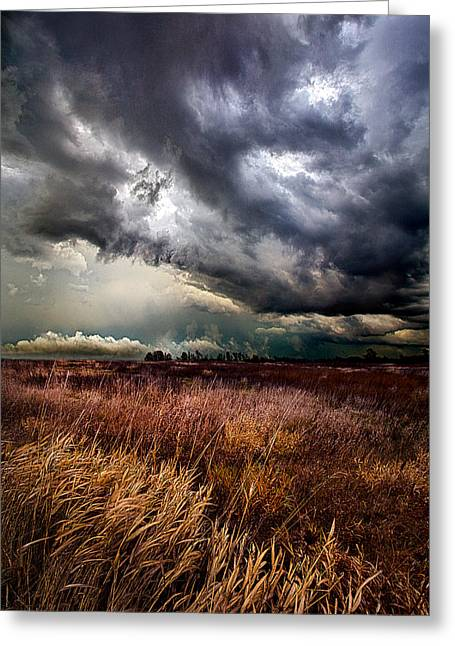 Geographic Greeting Cards - The Thunder Rolls Greeting Card by Phil Koch