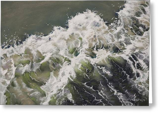 Waves Pastels Greeting Cards - The Tide Greeting Card by Christopher Reid