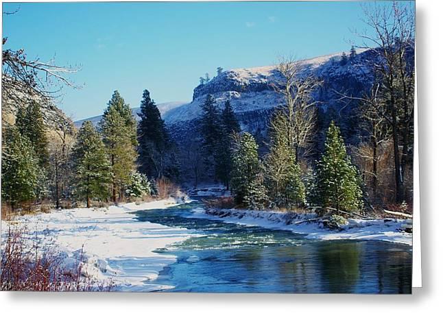 Oak Creek Greeting Cards - The Tieton River Greeting Card by Jeff  Swan