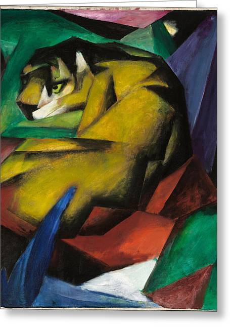 The Tiger Greeting Cards - The Tiger Greeting Card by Franz Marc