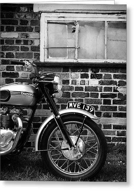 Motorcycles Greeting Cards - The Tiger Greeting Card by Mark Rogan
