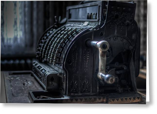 Creepy Digital Art Greeting Cards - The till Greeting Card by Nathan Wright