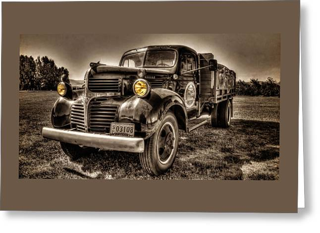 The Tillamook Cheese Truck Greeting Card by Thom Zehrfeld