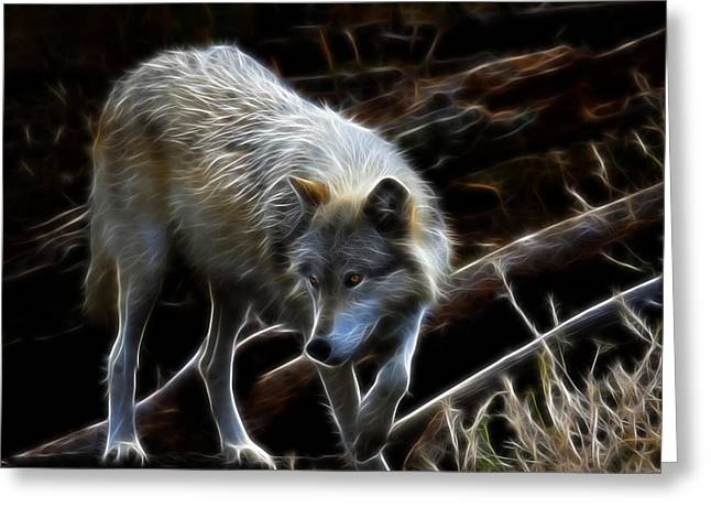 Preditor Greeting Cards - The Timber Wolf Greeting Card by Steve McKinzie
