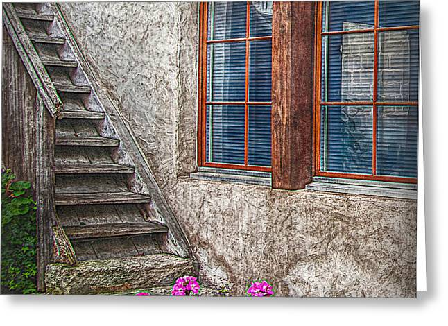 Fenster Photographs Greeting Cards - The timbre Stair Greeting Card by Hanny Heim