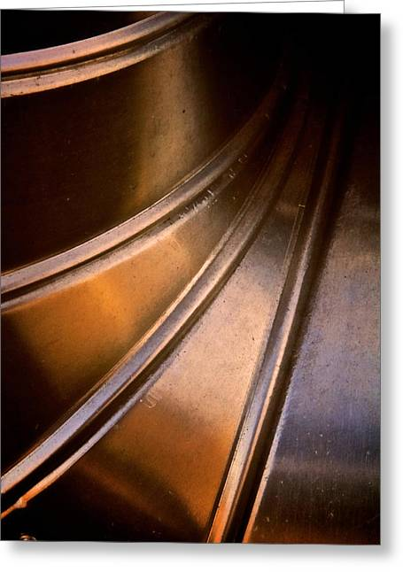 Stainless Steel Greeting Cards - The Tin Mans Elbow Greeting Card by Odd Jeppesen
