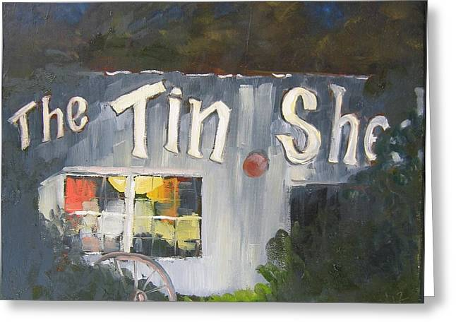 Florida Panhandle Paintings Greeting Cards - The Tin Shed Greeting Card by Susan Richardson
