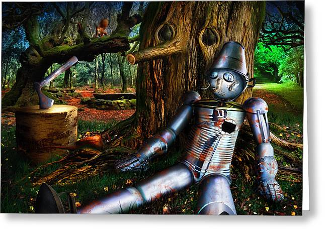 The Tin Woodman Greeting Card by Alessandro Della Pietra