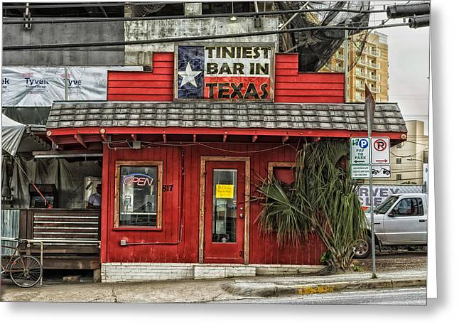 Austin Landmark Greeting Cards - The Tiniest Bar in Texas Greeting Card by Mountain Dreams