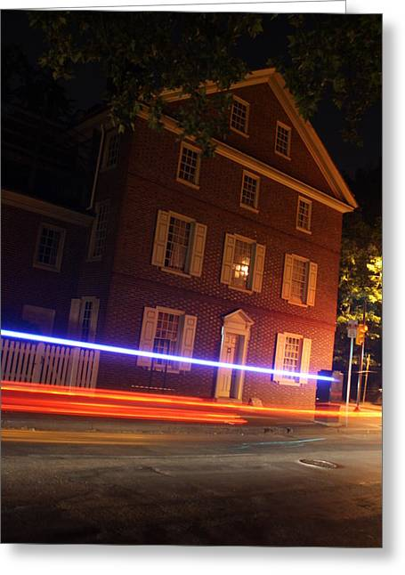 Dolley Greeting Cards - The Todd House Philadelphia Greeting Card by Christopher Woods