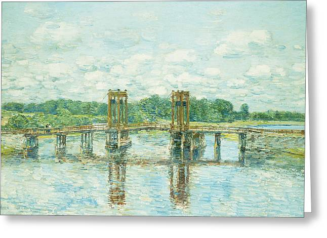 Natural Space Greeting Cards - The Toll Bridge New Hampshire Greeting Card by Childe Hassam