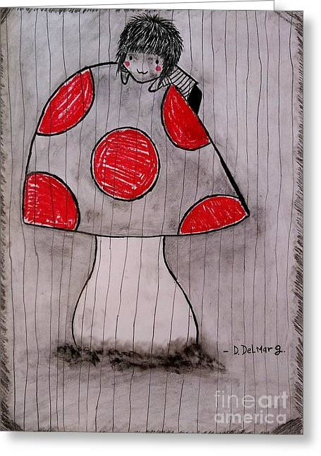 Graphite Pastels Greeting Cards - The tomboy princess Greeting Card by Denisse Del Mar Guevara