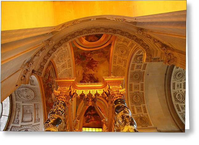Streetlight Greeting Cards - The Tombs at Les Invalides - Paris France - 011325 Greeting Card by DC Photographer