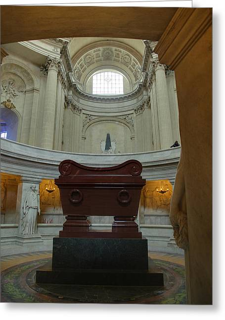 Streetlight Greeting Cards - The Tombs at Les Invalides - Paris France - 011330 Greeting Card by DC Photographer