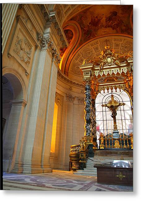 Streetlight Greeting Cards - The Tombs at Les Invalides - Paris France - 01135 Greeting Card by DC Photographer