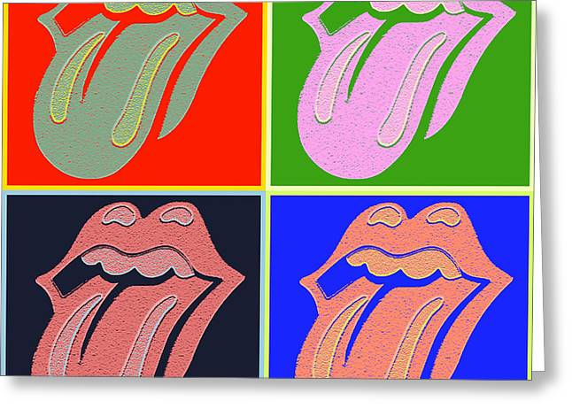Colrful Greeting Cards - The Tongue Greeting Card by Steven Parker