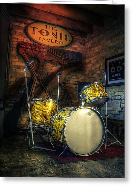 Drum Greeting Cards - The Tonic Tavern Greeting Card by Scott Norris