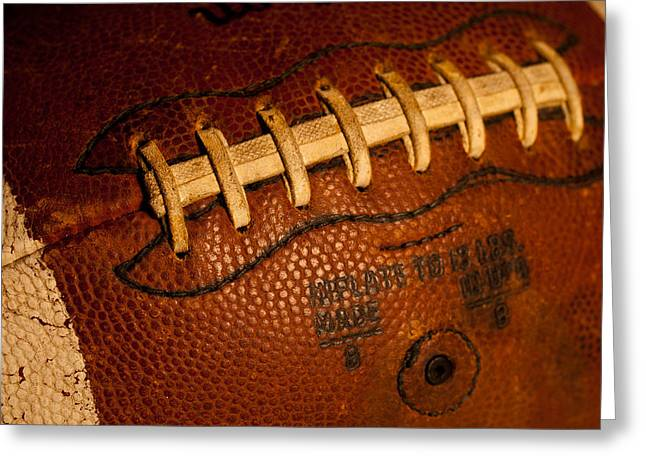 Football Closeup Greeting Cards - The Tool of the Gridiron Greeting Card by David Patterson