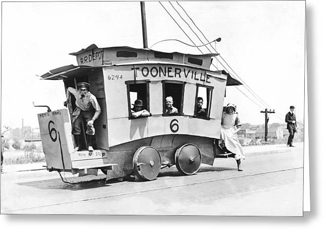 The Toonerville Trolley Greeting Card by Underwood Archives