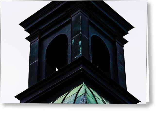Abandoned Houses Mixed Media Greeting Cards - The top of a church Greeting Card by Toppart Sweden