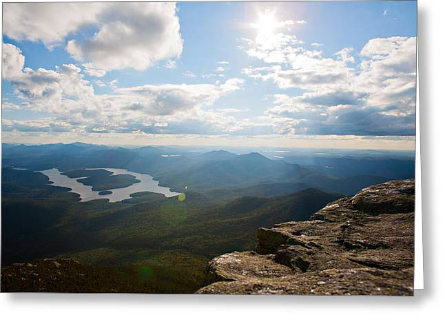 Walsh Lake Greeting Cards - The Top of the World Greeting Card by Lisa Walsh