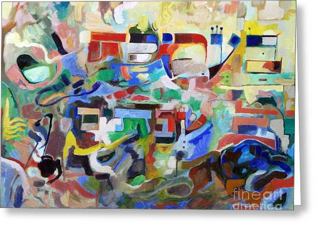 Inner Self Paintings Greeting Cards - the Torah is acquired with articulate speech 2  Greeting Card by David Baruch Wolk