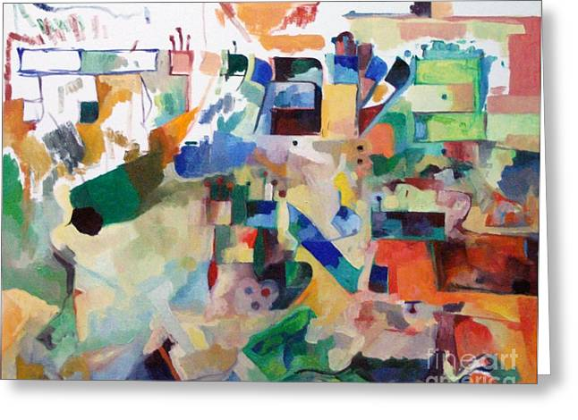 Inner Self Paintings Greeting Cards - the Torah is acquired with attentive listening 1 Greeting Card by David Baruch Wolk